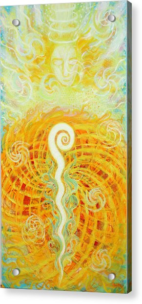 Flaming Sword Acrylic Print
