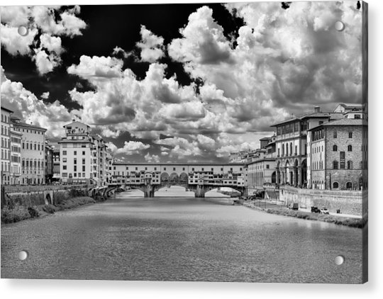 Acrylic Print featuring the photograph Florence Old Bridge by Mirko Chessari