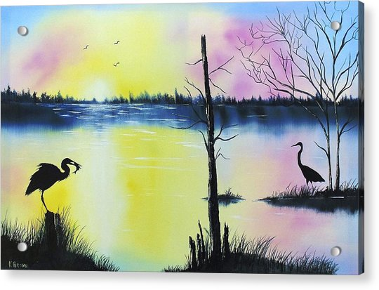 Florida Silohuette Acrylic Print