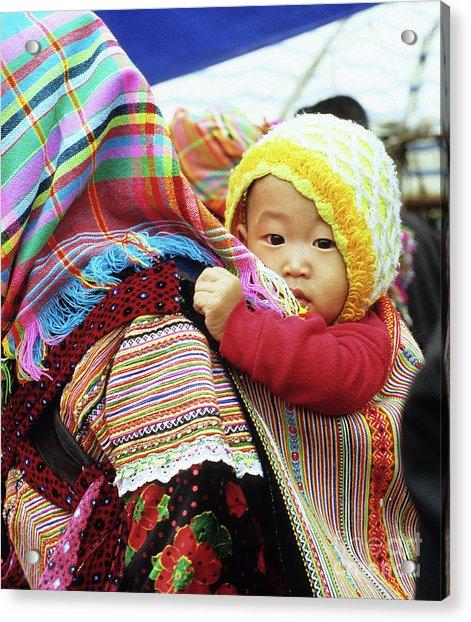 Flower Hmong Baby 04 Acrylic Print