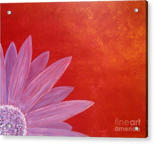 Flower On Metallic Background Acrylic Print