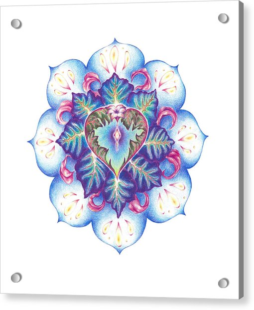 Flowering Of The Heart   Oneness Art Acrylic Print by Lydia Erickson