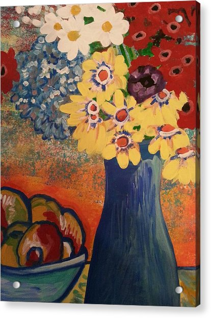 Flowers And Oranges Acrylic Print
