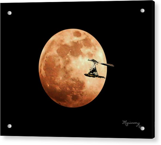 Fly Me To The Moon Acrylic Print by Mariarosa Rockefeller