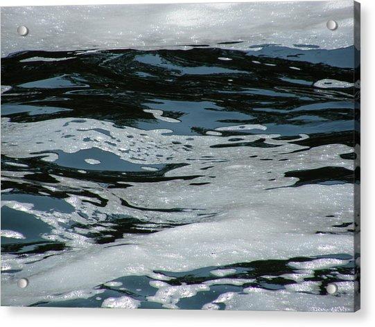 Foam On Water Acrylic Print
