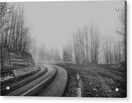 Acrylic Print featuring the photograph Foggy Road by Mirko Chessari