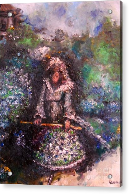 Acrylic Print featuring the painting For Grandma by Laurie Lundquist
