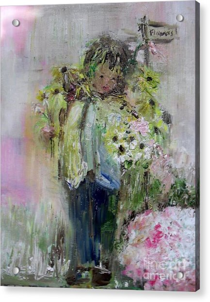 Acrylic Print featuring the painting For My Mother by Laurie Lundquist