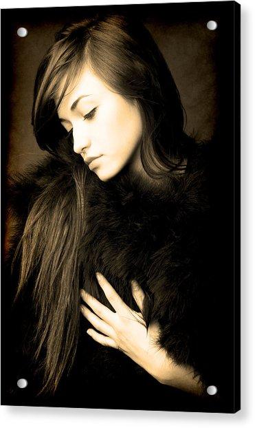 Forlorn Woman Acrylic Print
