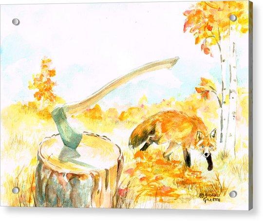 Fox In Autumn Acrylic Print