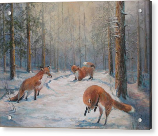 Forest Games Acrylic Print