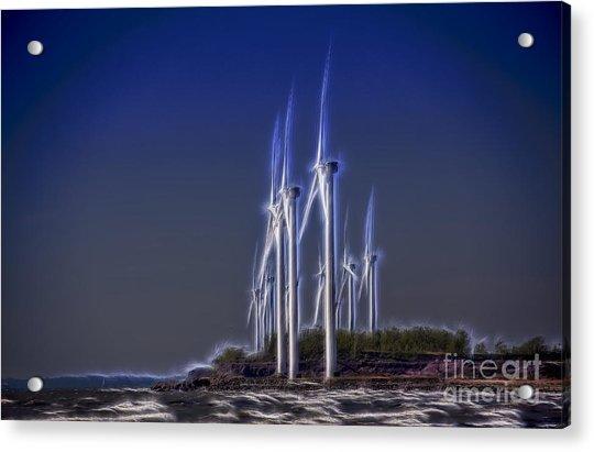 Fractalius Windmills Acrylic Print