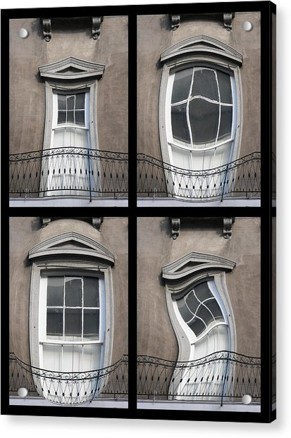 French Quarter Distorted Door Acrylic Print