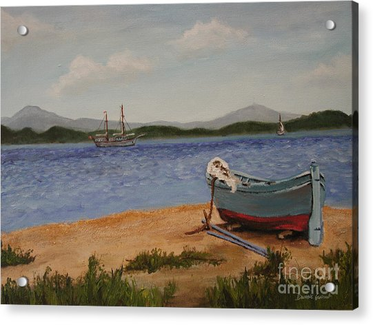 Acrylic Print featuring the painting From The Shore by Dwayne Glapion