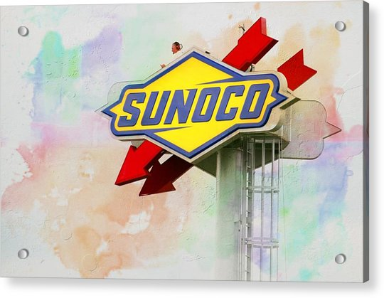 Acrylic Print featuring the photograph From The Sunoco Roost by Alice Gipson