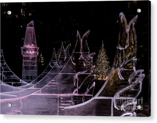 Frozen Waves Acrylic Print