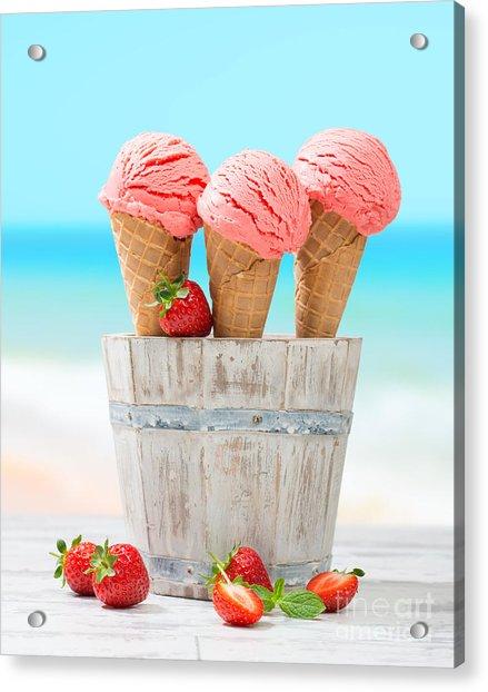 Fruit Ice Cream Acrylic Print