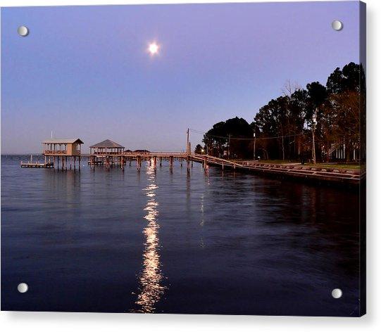Full Moon On The Bay Acrylic Print