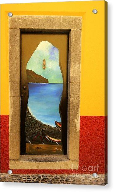 Funchal Door Art 4 Acrylic Print