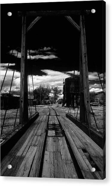 Acrylic Print featuring the photograph Gallows Gives Direction by David Bailey