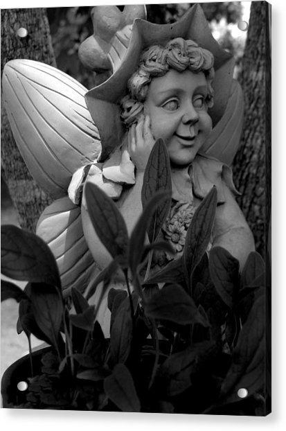 Garden Fairy Statue Acrylic Print