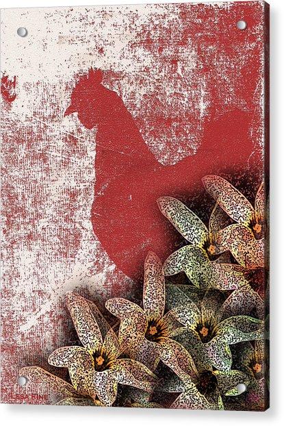 Garden Rooster Acrylic Print