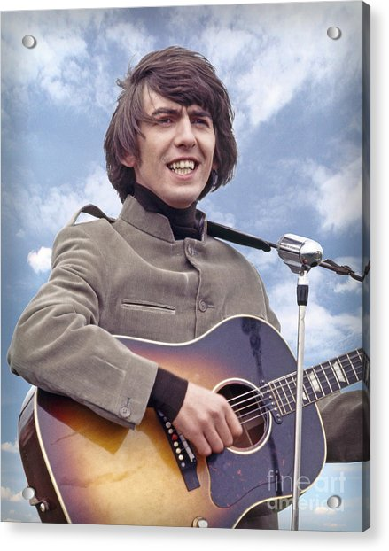 Art Print POSTER CANVAS George Harrison Playing Guitar