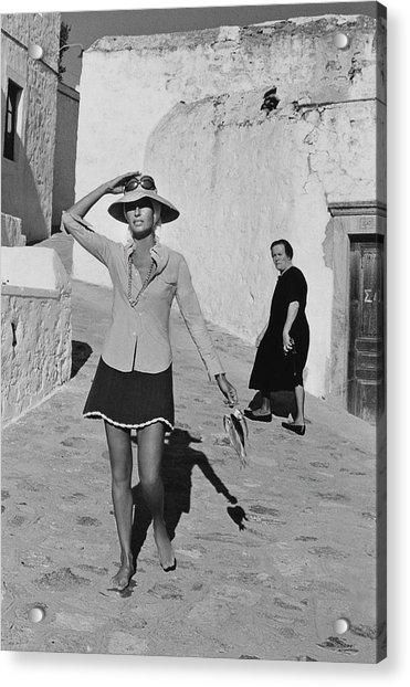 Ginette Camo In Patmos Acrylic Print