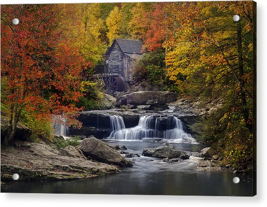 Glade Creek Grist Mill 2 Acrylic Print by Michael Donahue