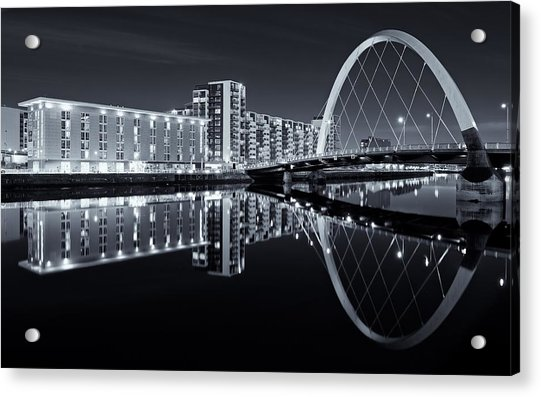 Glasgow In Black And White Acrylic Print