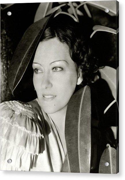 Gloria Swanson In The Film Three Weeks Acrylic Print by Cecil Beaton