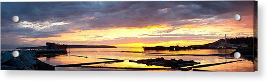 Glowing Freighters Acrylic Print