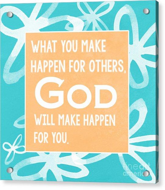 God's Gift - Blue Acrylic Print