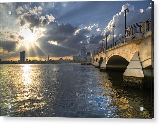 God's Light Over West Palm Beach Acrylic Print