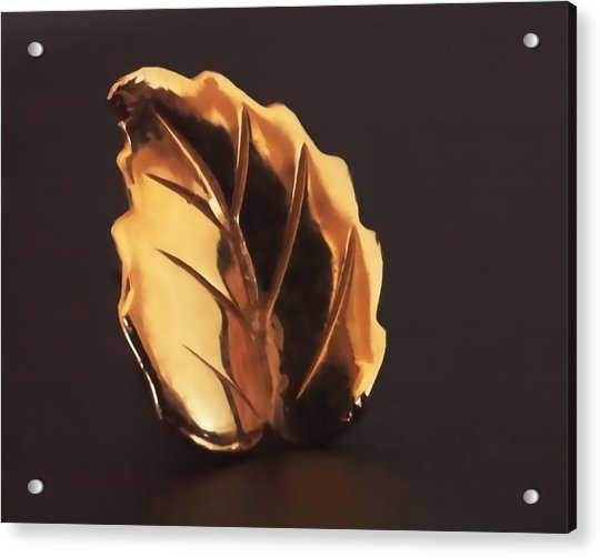 Acrylic Print featuring the photograph Gold Leaf by Rona Black