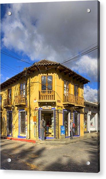 Golden Afternoon In San Cristobal De Las Casas Acrylic Print by Mark Tisdale