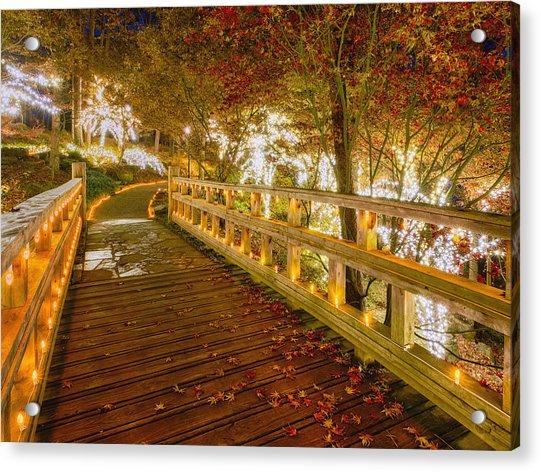 Golden Bridge Acrylic Print