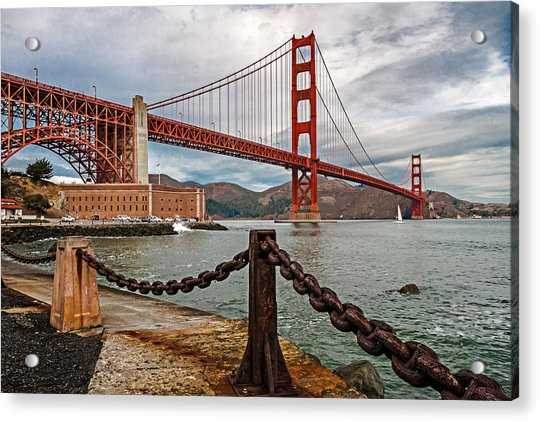 Golden Gate Bridge And Fort Point Acrylic Print