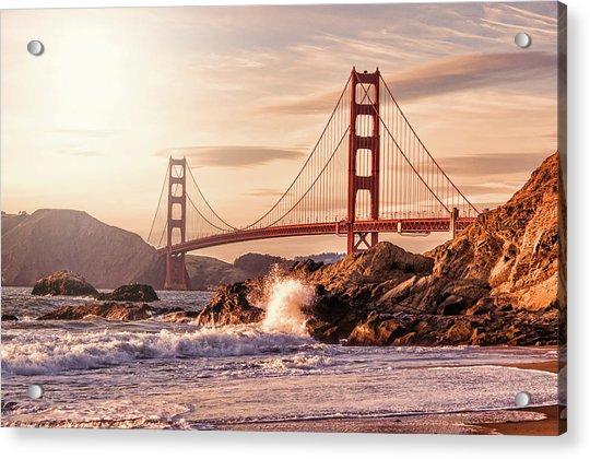 Golden Gate Bridge From Baker Beach Acrylic Print by Karsten May