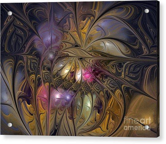 Golden Ornamentations-fractal Design Acrylic Print