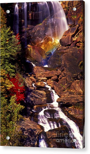 Golden Rainbow Acrylic Print