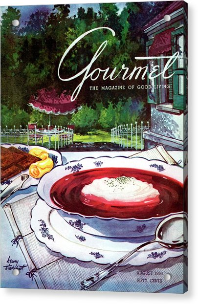 Gourmet Cover Featuring A Bowl Of Borsch Acrylic Print