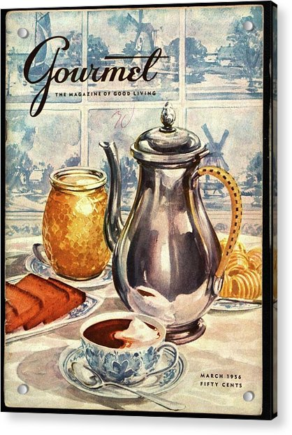 Gourmet Cover Featuring An Illustration Acrylic Print