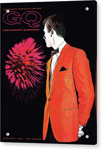 Gq Cover Of An Illustration Of A Man Wearing An Acrylic Print