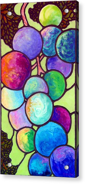 Grape De Chine Acrylic Print
