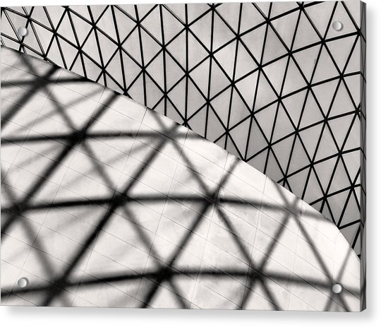 Acrylic Print featuring the photograph Great Court Abstract by Rona Black