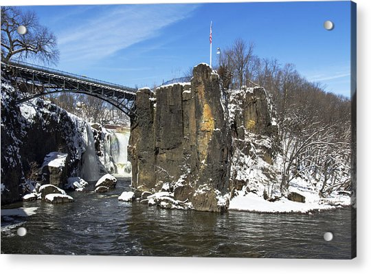 Great Falls In Color Acrylic Print