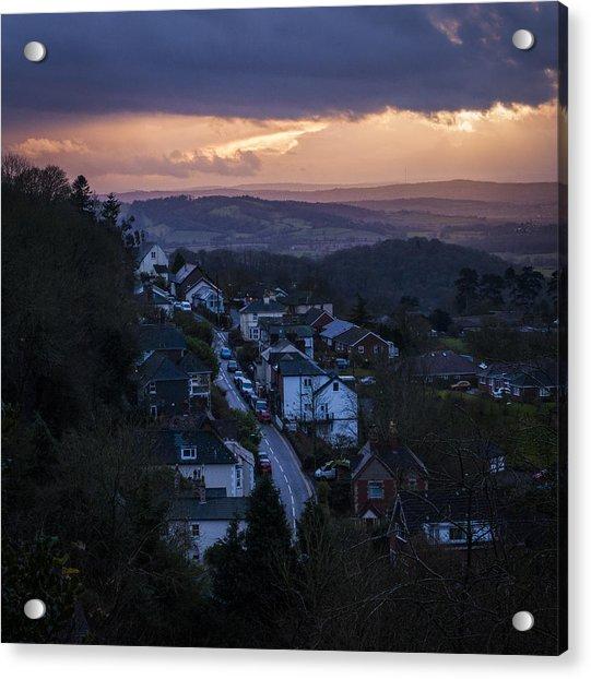 Great Malvern Sunset Acrylic Print