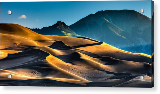 Great Sand Dunes At Dawn Acrylic Print