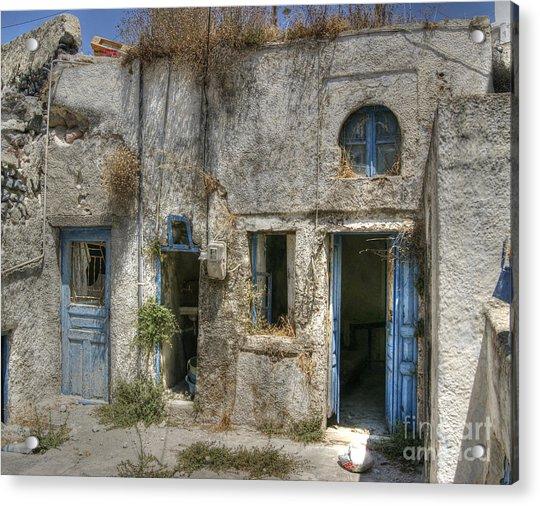 Greece Before The Tourists Acrylic Print